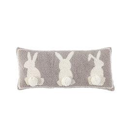 Triple White Bunny Hook Pillow
