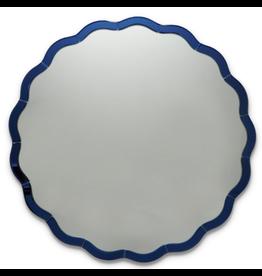Blue Scallop Mirror