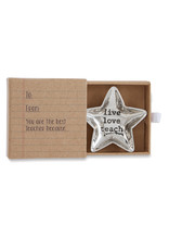 Live Love Teach Star Boxed Mini Dish