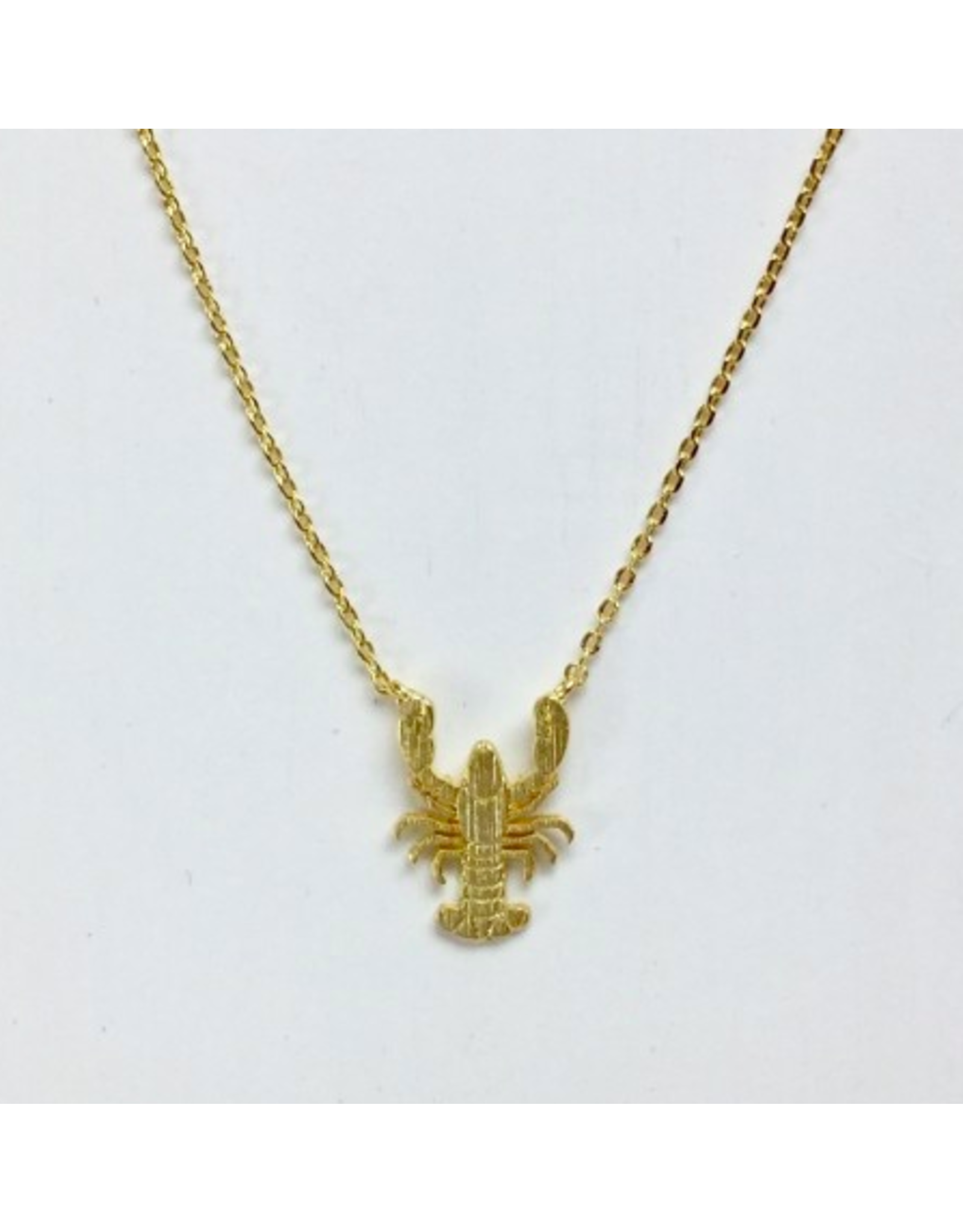 Lobster Necklace in Gold