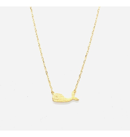 Whale Necklace in Gold