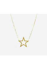 Star Cutout Necklace in Gold
