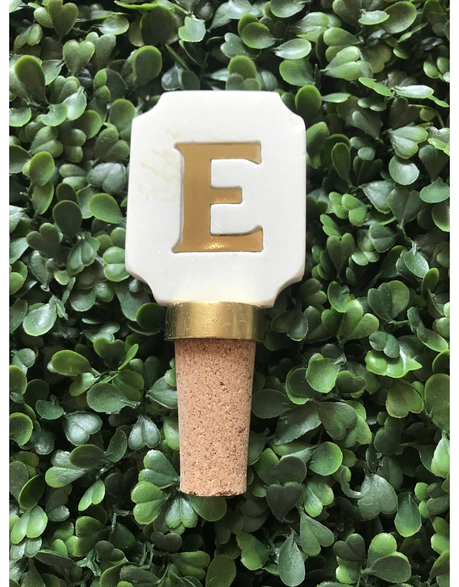 Letter E Initial Bottle Stopper