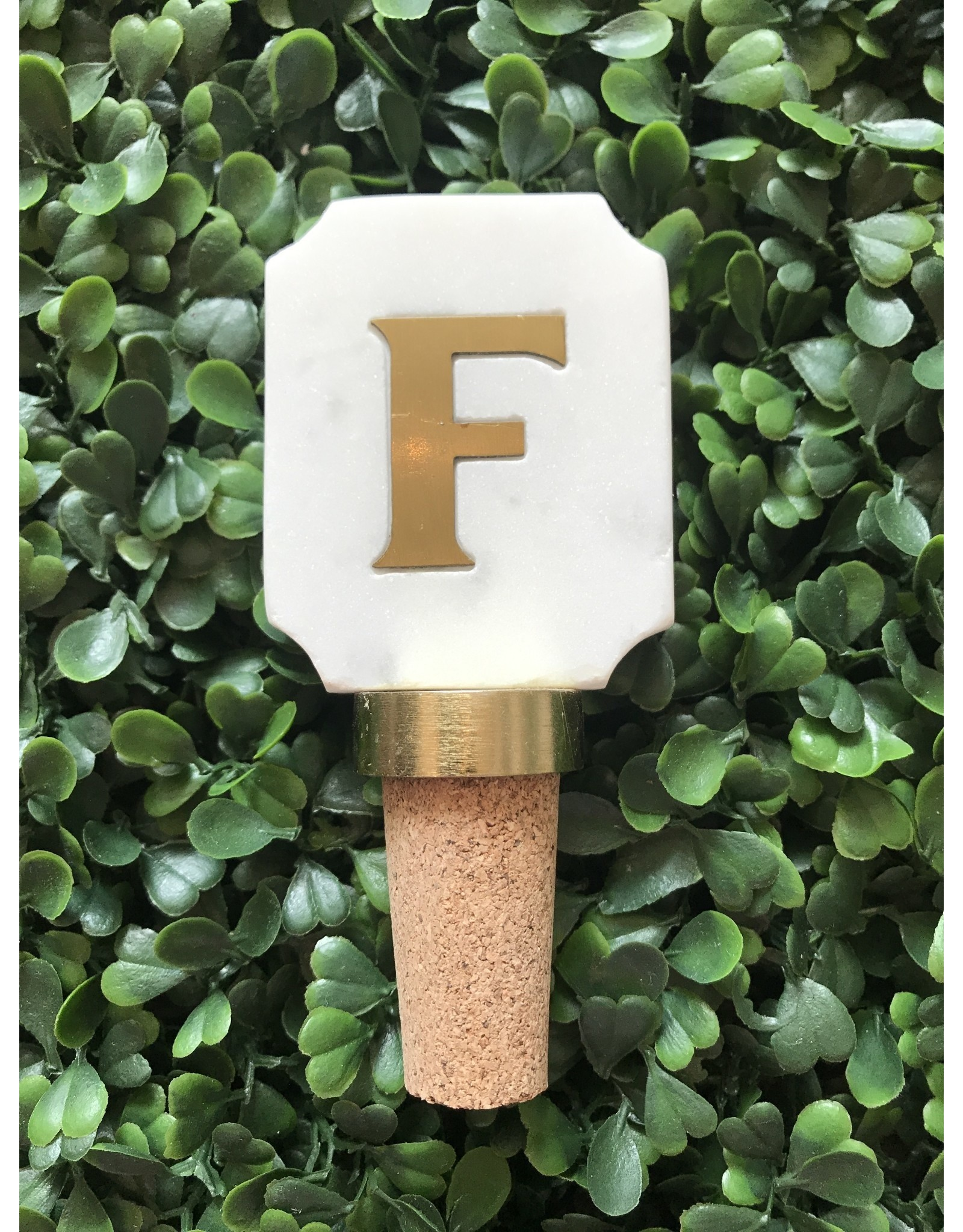 Letter F Initial Bottle Stopper