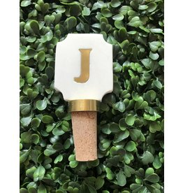Letter J Initial Bottle Stopper