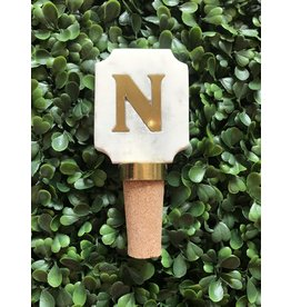 Letter N Initial Bottle Stopper