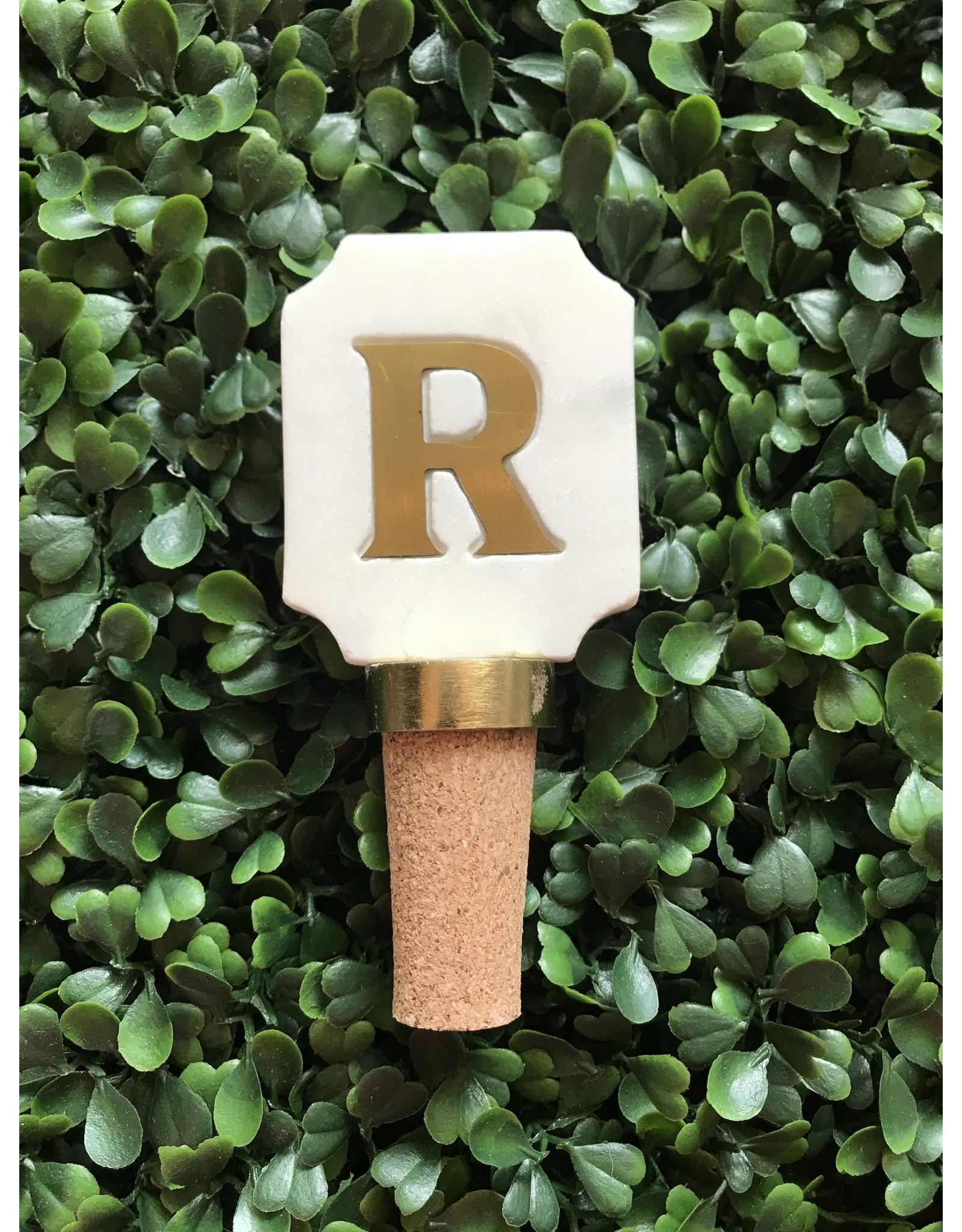 Letter R Initial Bottle Stopper