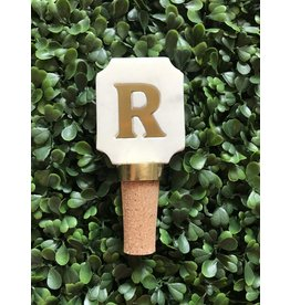Letter R Initial Bottle Stopper