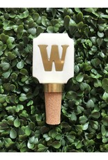Letter W Initial Bottle Stopper
