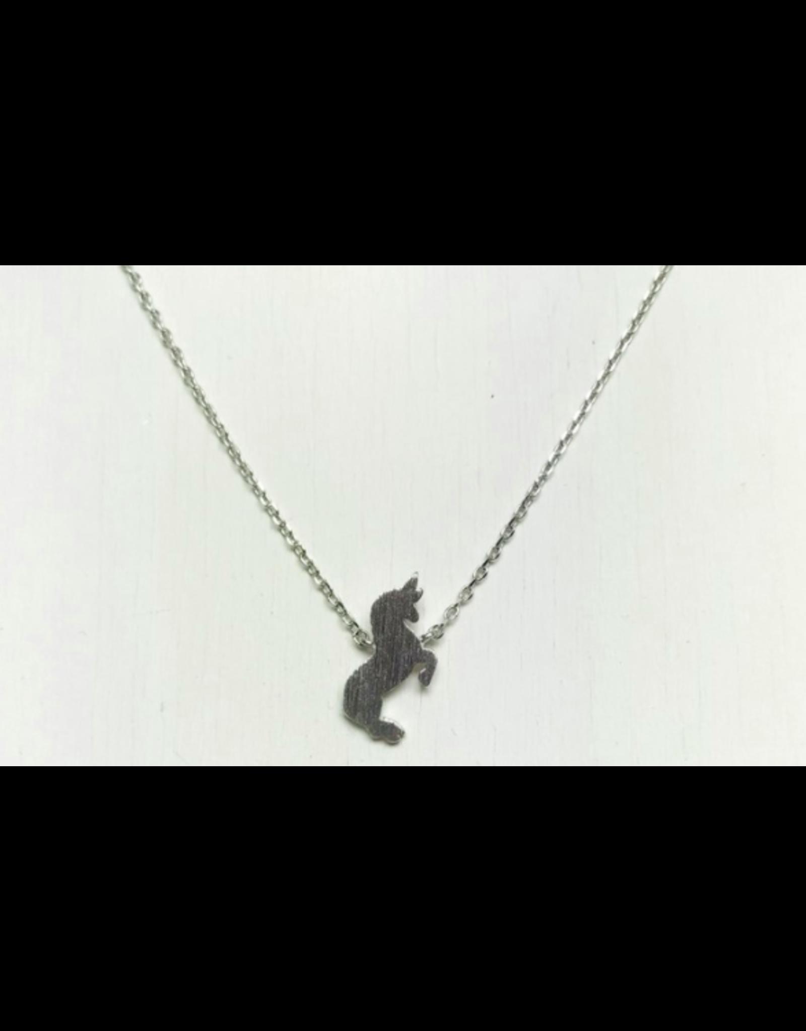 Unicorn Necklace in Silver