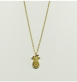 Pineapple Necklace in Gold