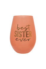 Slant Collections Best Sister Ever Jumbo Stemless Wineglass