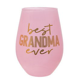 Slant Collections Best Grandma Ever Jumbo Stemless Wineglass