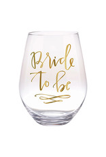 Slant Collections Bride to Be Jumbo Stemless Wineglass