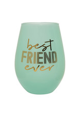 Slant Collections Best Friend Ever Jumbo Stemless Wineglass