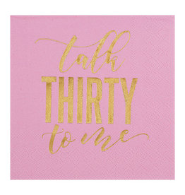 Slant Collections Talk Thirty to Me Napkins