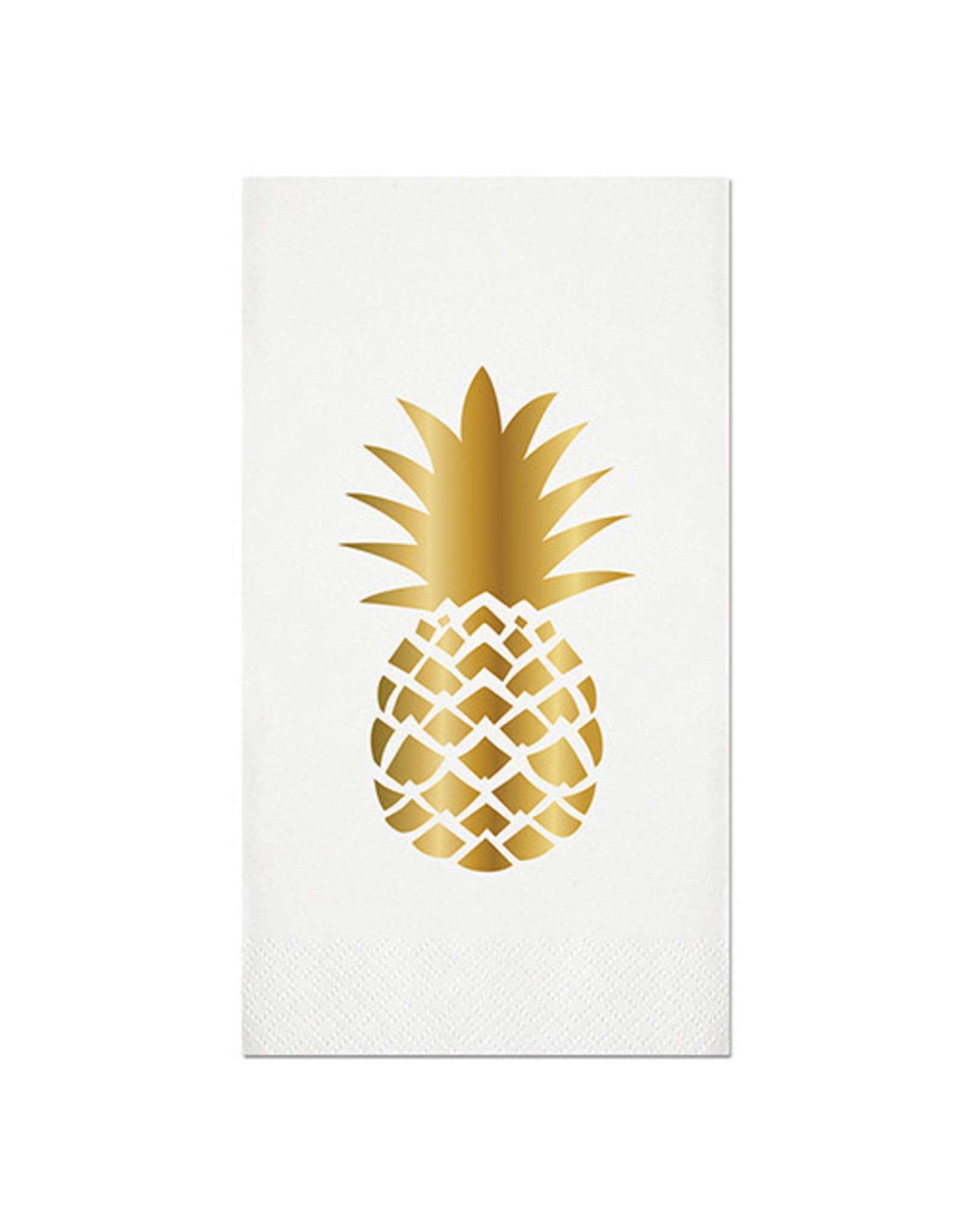 Slant Collections Gold Pineapple Paper Guest Towel
