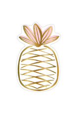 Slant Collections Gold & Pink Pineapple Paper Plates