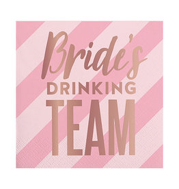 Slant Collections Bride's Drinking Team Napkins
