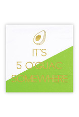 Slant Collections It's 5 O'Guac Somewhere Napkins