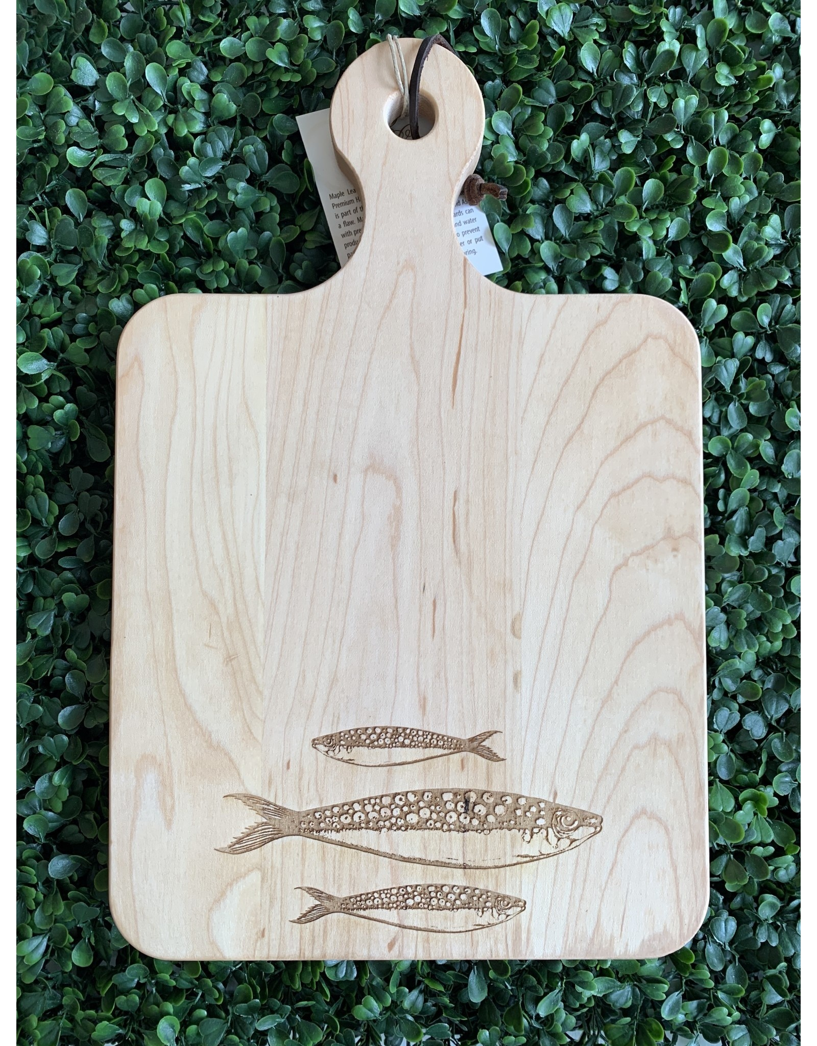 Maple Leaf at Home Fish Trio 14 x 9 Maple Cutting Board