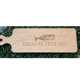 Maple Leaf at Home Beach House with Whale 20x6 Maple Cutting Board