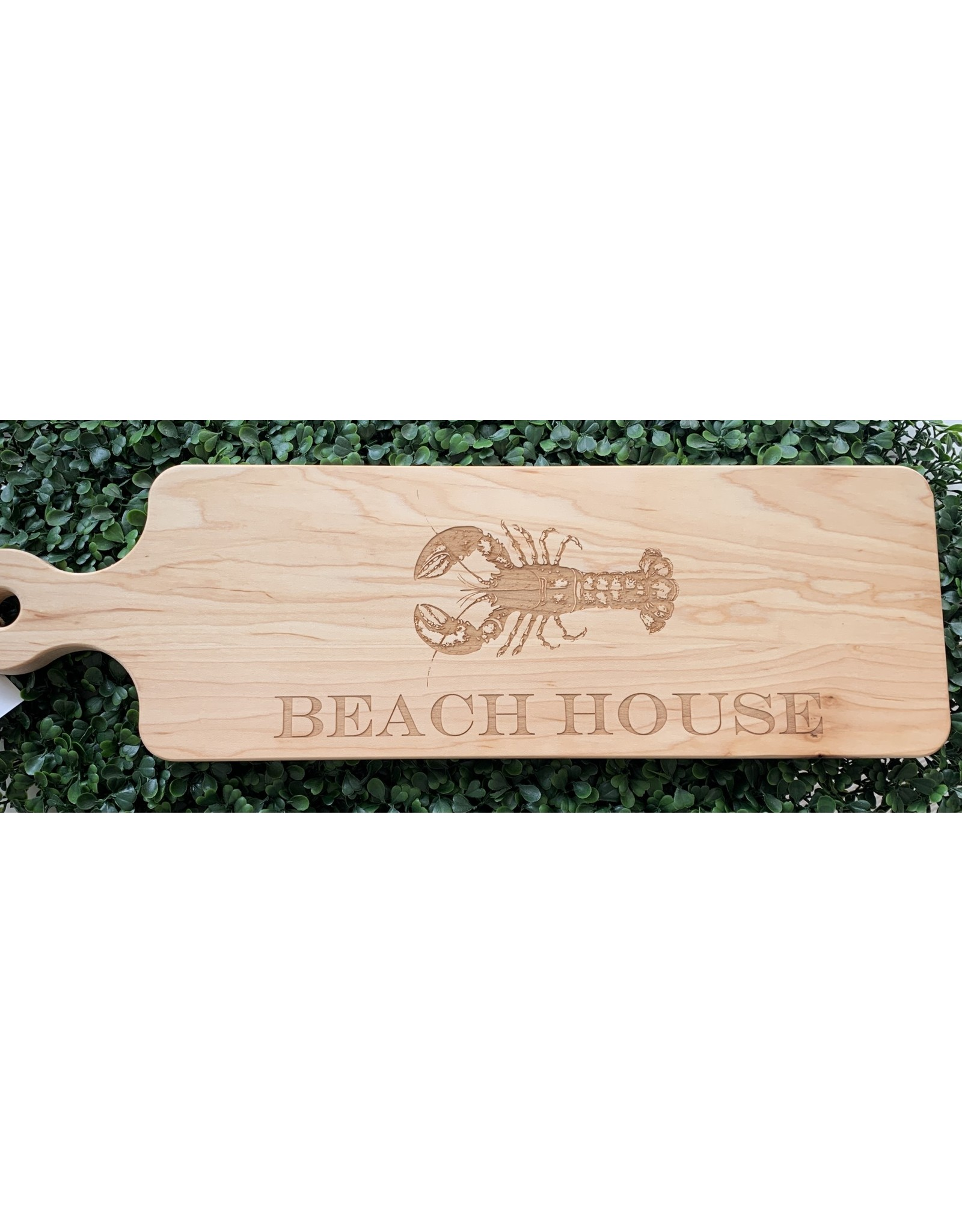 Maple Leaf at Home Beach House with Lobster 20x6 Maple Cutting Board