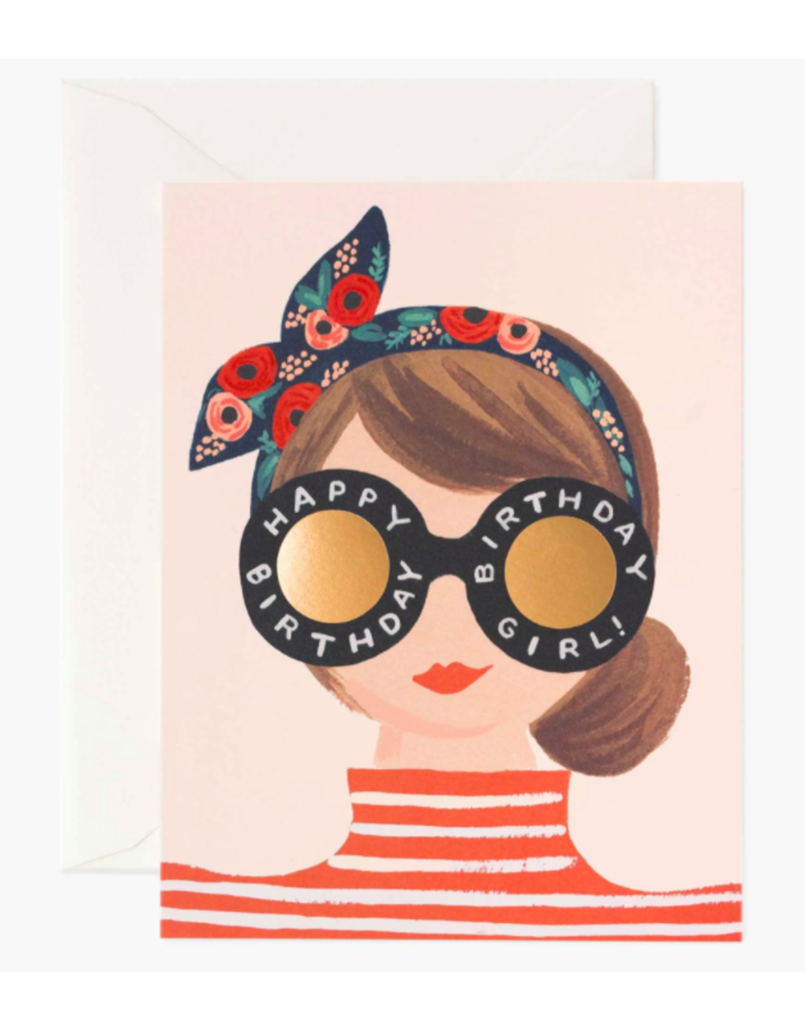 Rifle Paper Co. Headband Birthday Girl Card
