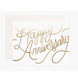 Rifle Paper Co. Happy Anniversary Gold Card