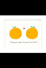 Paula and Waffle Orange You Glad Card