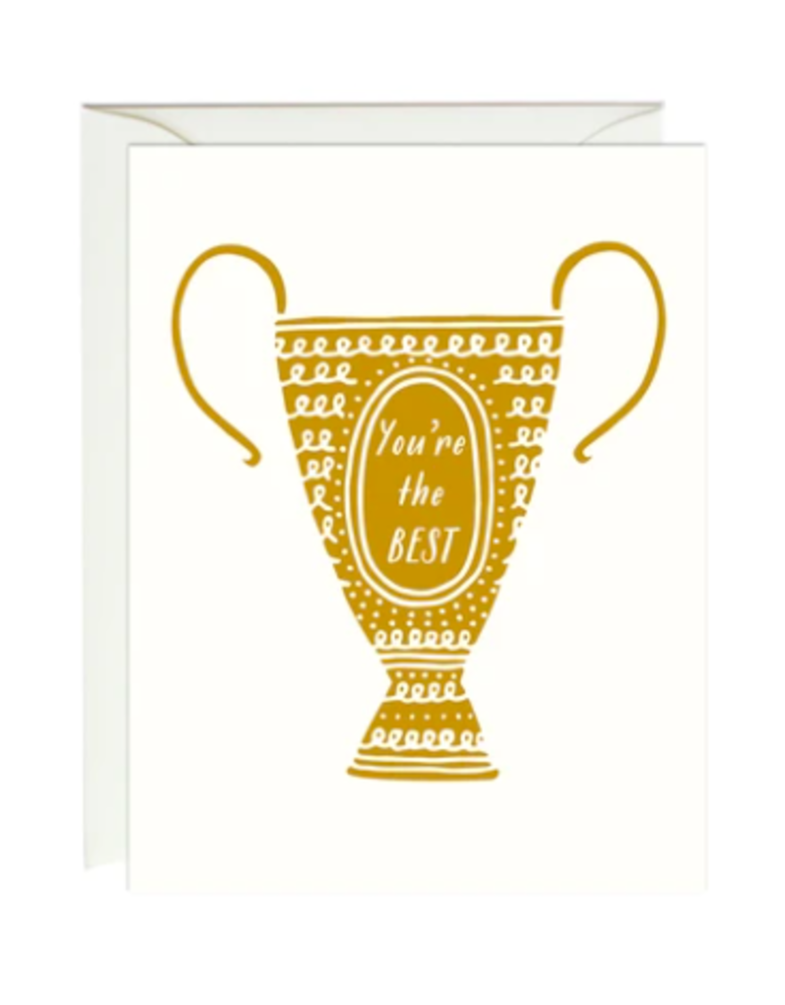 Paula and Waffle You're the Best Trophy Foil Card