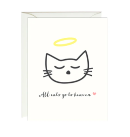 Paula and Waffle All Cats Go to Heaven Card