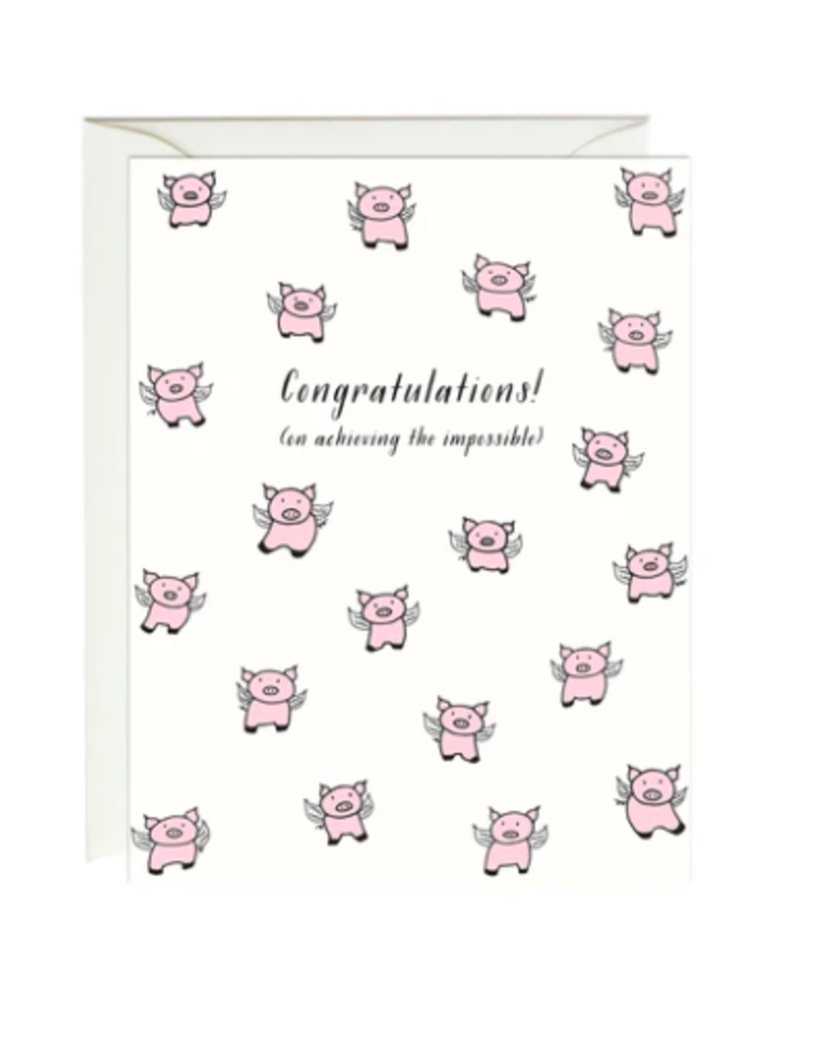 Paula and Waffle When Pigs Fly Card