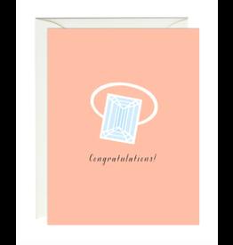 Paula and Waffle Congrats Ring Card