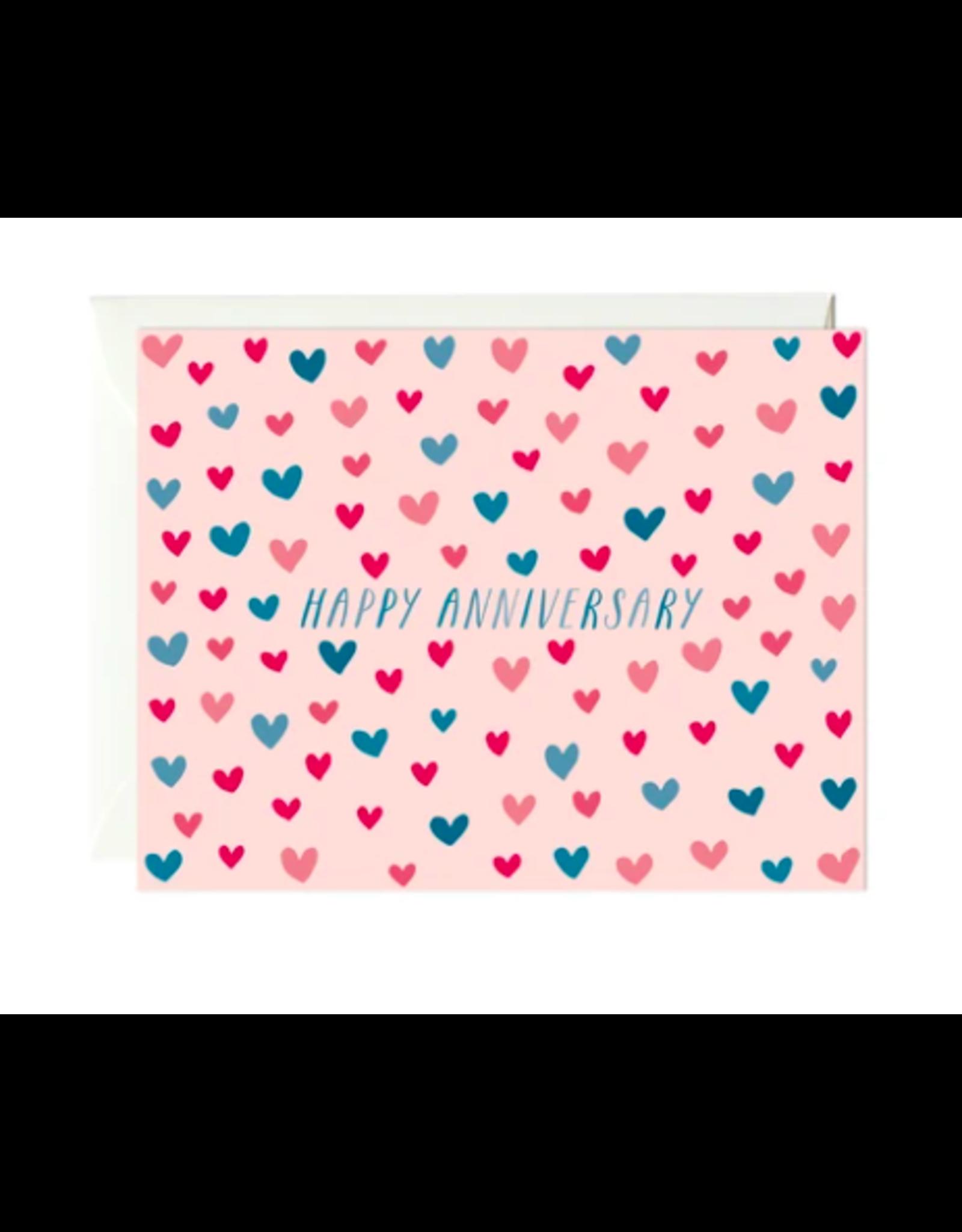 Paula and Waffle Annniversary Hearts Card
