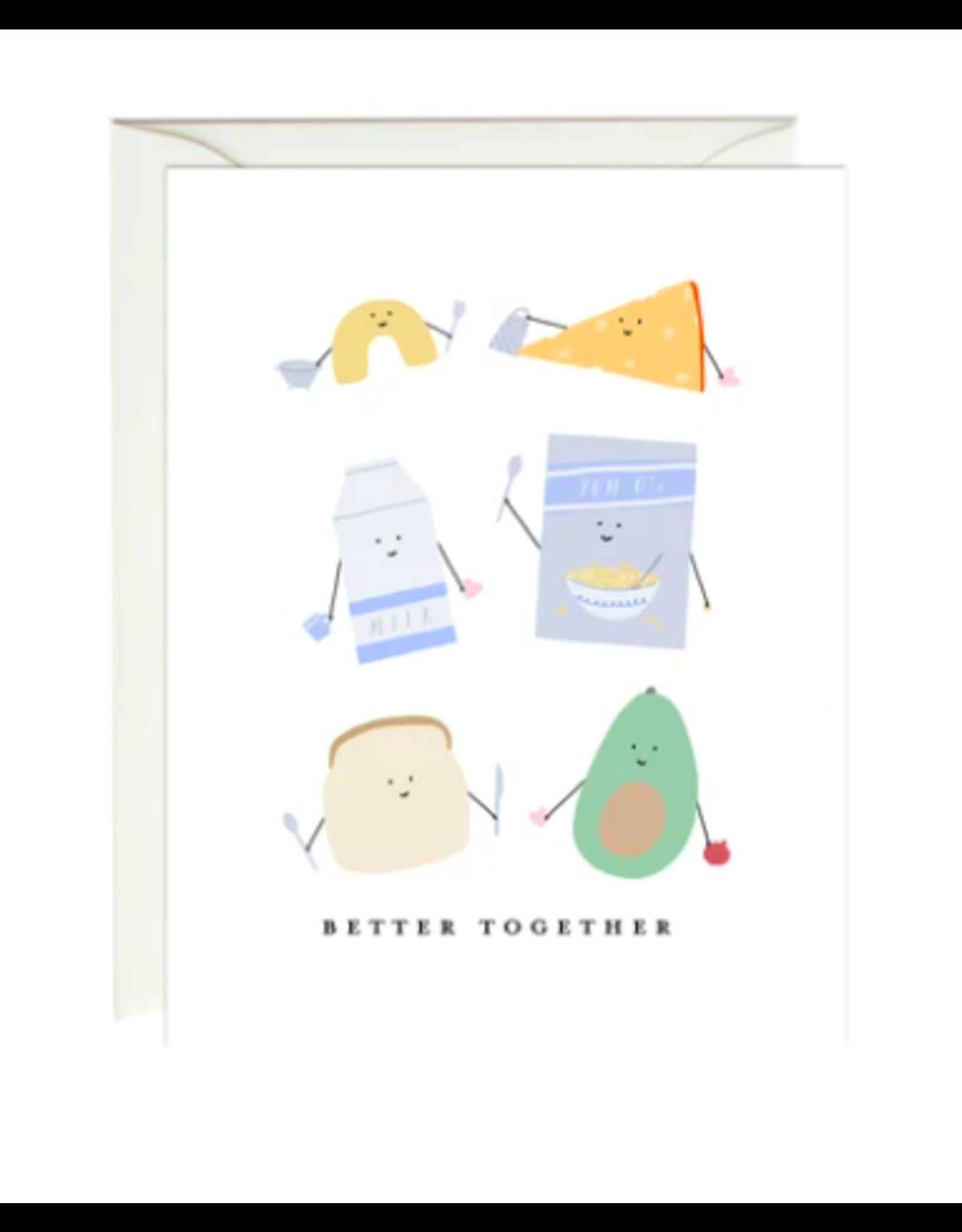 Paula and Waffle Foods Together Card