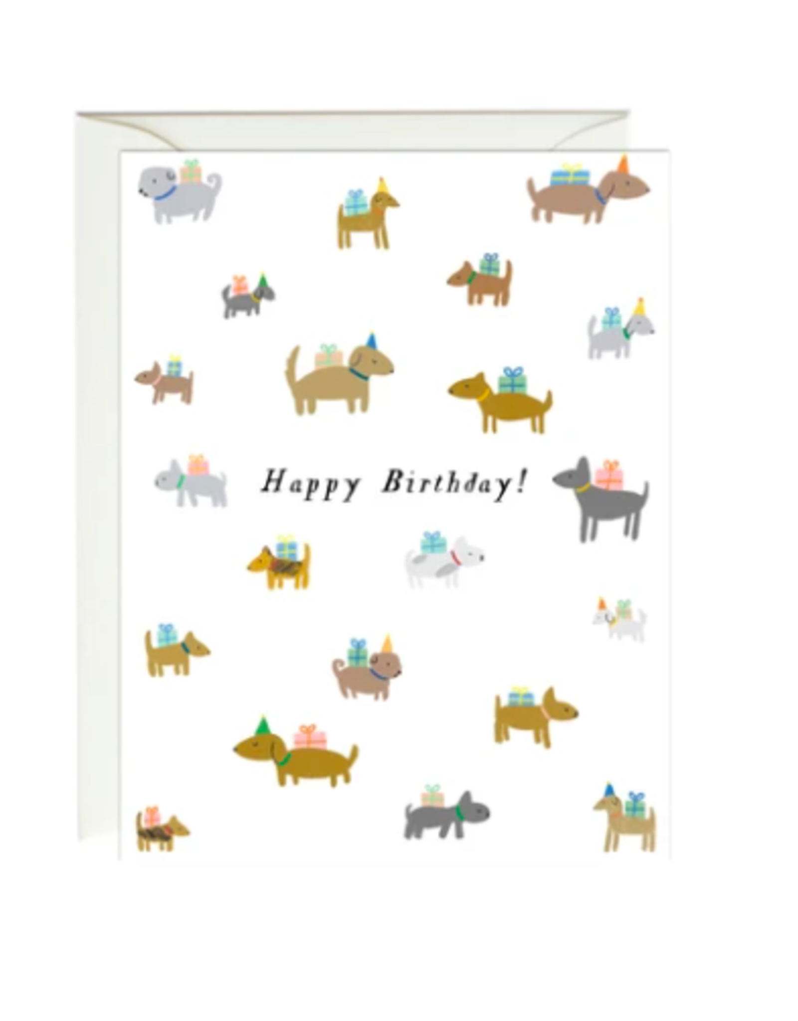 Paula and Waffle Birthday Dogs Card