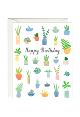 Paula and Waffle Birthday Plants Card