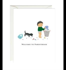 Paula and Waffle Parenthood Card