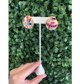 Musgrove & Main Handpainted Bright Double Circle Stud