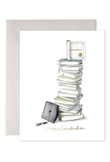E. Frances Grad Book Stack Card