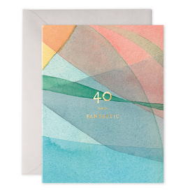 E. Frances 40 Birthday Card