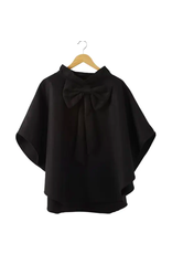 Bow Cape in Black