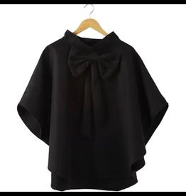 Bow Cape in Black