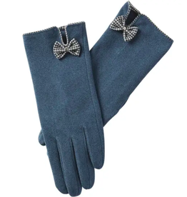 Isla Bow Gloves in Peacock