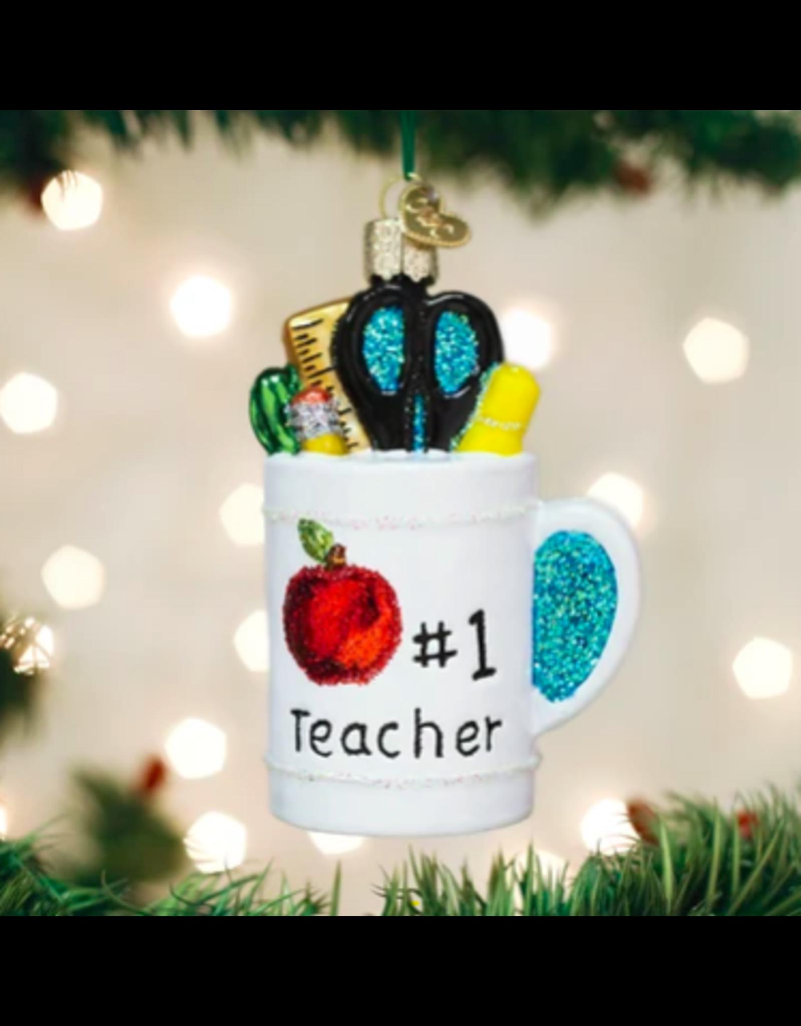 Best Teacher Mug Ornament
