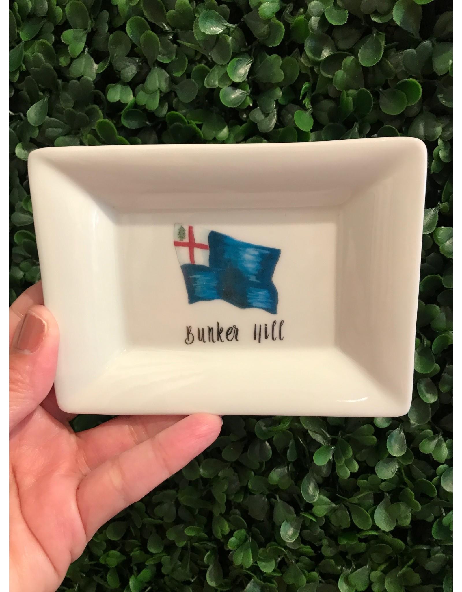 Dishique Bunker Hill Flag Mini Dish