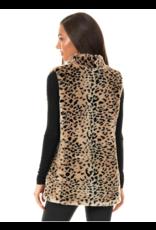 Donna Salyers Fabulous Furs Faux Cheetah Hook Vest Size Small