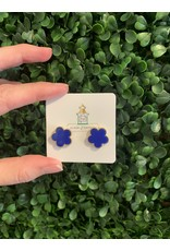 Clover Stud in Royal Blue