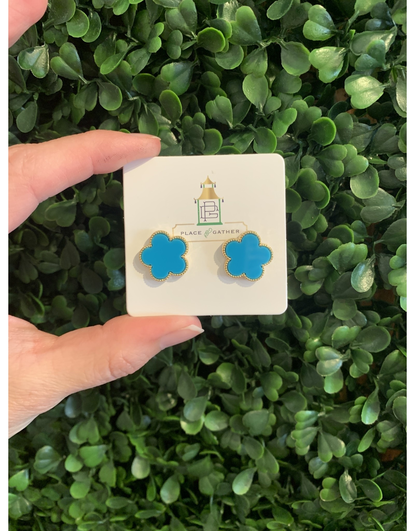 Clover Stud in Turquoise